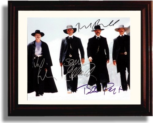Framed Val Kilmer, Kurt Russell, Bill Paxton and Sam Elliot