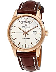 Breitling Transocean Automatic Mercury Silver Dial 18K Rose Gold Mens Watch R4531012-G752BRCT
