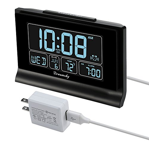 gital Alarm Clock with USB Charging Port, 6.6