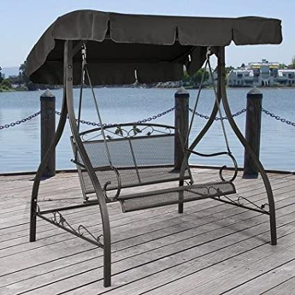 Charmant Mainstays Jefferson Wrought Iron Outdoor Swing, Seats 2