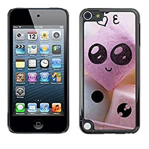 LECELL -- Funda protectora / Cubierta / Piel For Apple iPod Touch 5 -- Funny Cute Faces --