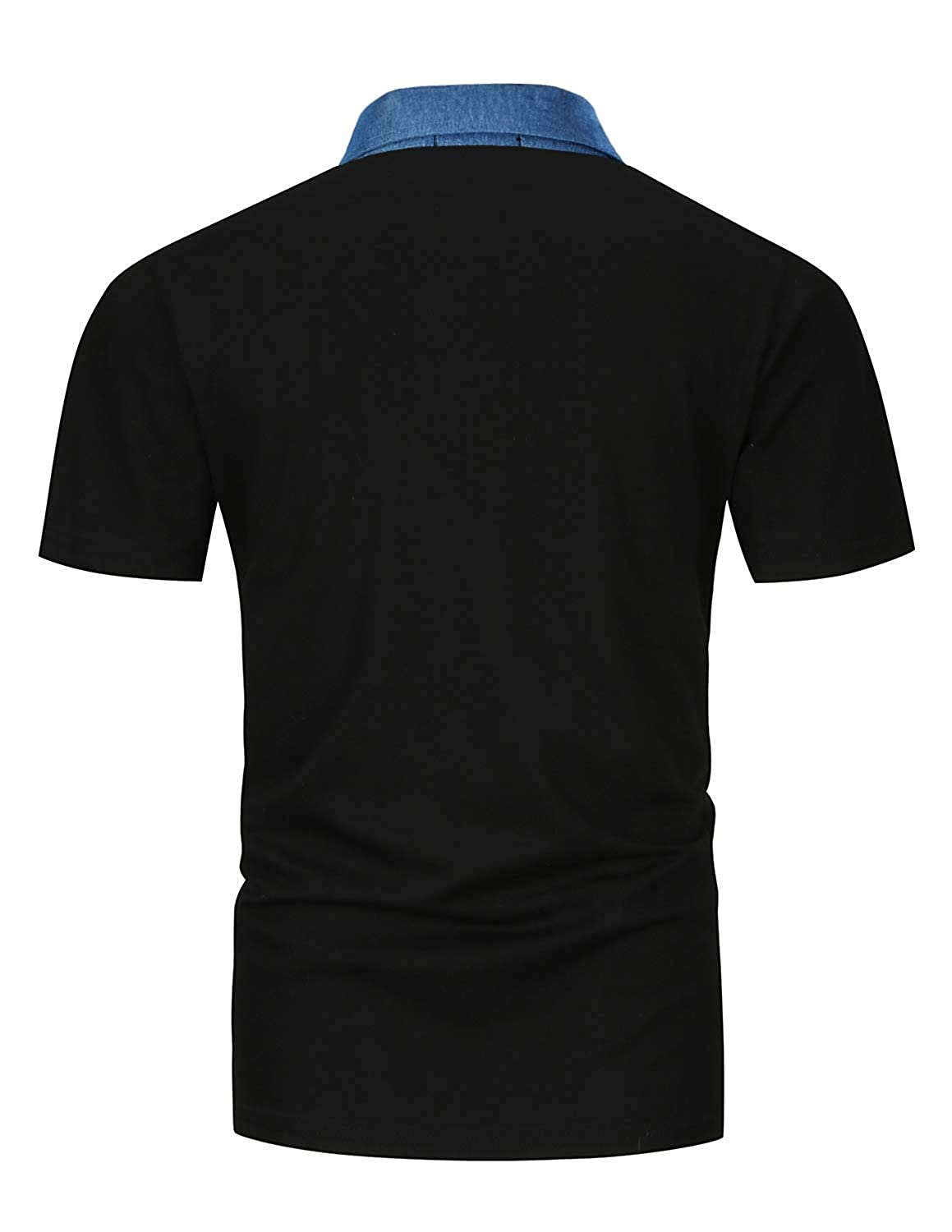 0b0f26c5 STTLZMC Mens Casual Slim Fit Polo Short Sleeve Cotton T-Shirts at Amazon Men's  Clothing store:
