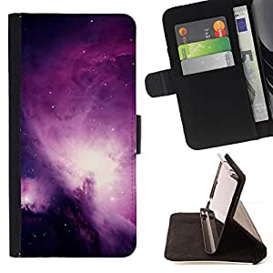 DEVIL CASE - FOR Samsung Galaxy S3 Mini I8190Samsung Galaxy S3 Mini I8190 - Universe Purple Galaxy Stars Night Sky - Style PU Leather Case Wallet Flip Stand Flap Closure Cover
