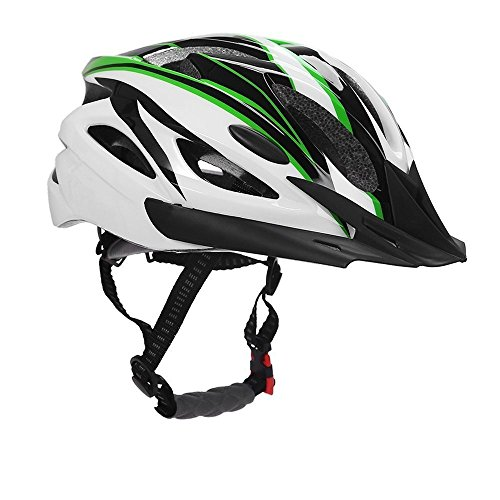 Bormart Adult Cycling Bike Helmet,Lightweight Adjustable Bicycle Helmet Specialized for Men Women Mountain Bicycle Road Safety Protection (Black+Green)