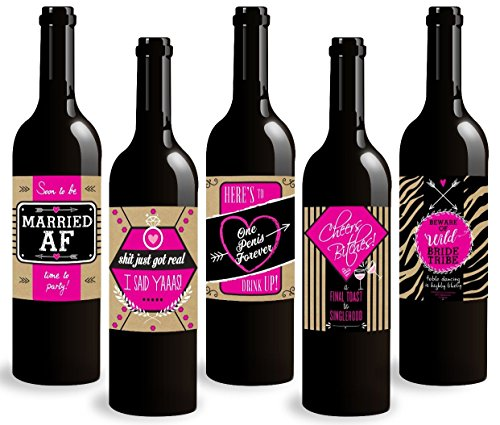 Standard Wine Labels Bachelorette Party Wine Bottle Labels. Celebrate Your Freedom Before Tying The Knot! ()