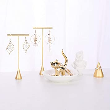 Jewelry Organizer Retail Earring Display Stands Necklace Rack Showcase Ring Hanger Holder Shelf Bracelet Tray Photography Props for Show