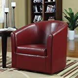 Barrel Back Chair Color: Red For Sale