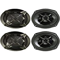 4) New Sony XSFB6930 6x9 3-Way 900W Coaxial Car Audio Stereo Speakers 2 pairs