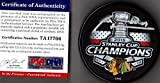 PSA/DNA Marian Hossa Autographed Signed 2015 Chicago Blackhawks Stanley Cup Champions Puck