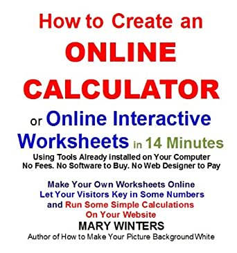 Amazon.com: How to Create an Online Calculator or Online ...