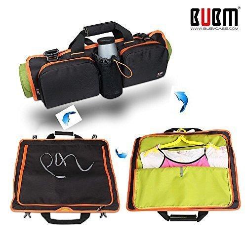 Brand-box Yoga Mat Bag Multi-Purpose Adjustable Shoulder Bag Handbag Tote Bags (Black)