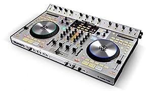 Numark 4TRAK - Mezclador para DJ (98 Db, 24 Bit, 44.1 kHz, 605 mm, 381 mm, 89 mm) Negro, Plata