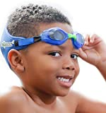 Frogglez Kids Swim Goggles with Patented Painless Strap Technology - Great Toddler Goggles - No Leaking, Anti Fog - Made...
