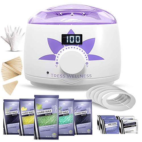Sugar Body Wax (Home Waxing Kit Wax Warmer Hair Removal Waxing Kit - Professional at Home Waxing Kit - Wax Machine for Body Wax - Hard Wax Kit Wax Pot - Waxing Pot Brazilian Wax Kit - Hard Wax Warmer Wax Heater)