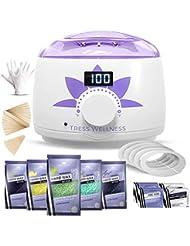 Home Waxing Kit Wax Warmer Hair Removal Waxing Kit - Professional at Home Waxing Kit - Wax Machine for Body Wax - Hard Wax Kit Wax Pot - Waxing Pot Brazilian Wax Kit - Hard Wax Warmer Wax Heater