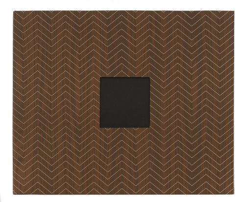 American Crafts Oilcloth D-Ring Scrapbooking Album, Woodgrain Chevron 2, 12 by - American Crafts Cloth