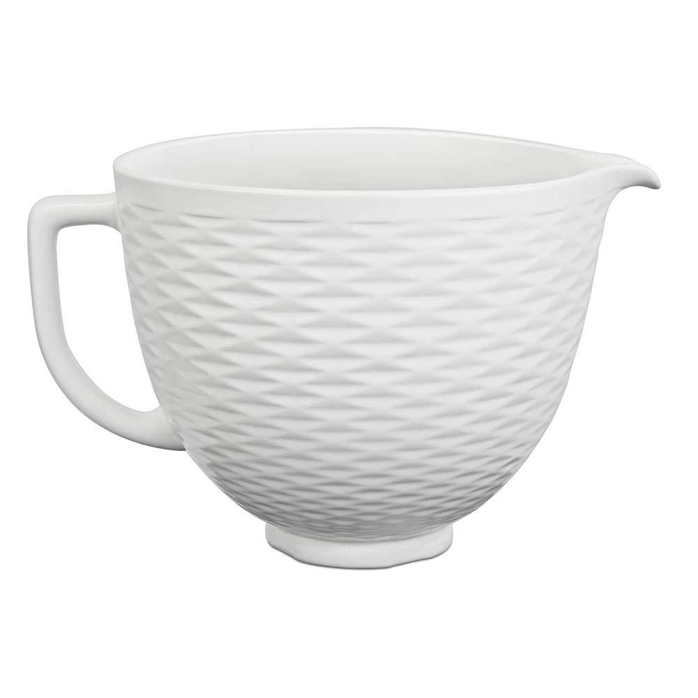 KitchenAid KSM2CB5TLW Accs Portable Appliance Stand Mixer Bowl, 5 quart, White Chocolate Textured Ceramic