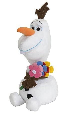 SIMBA 6315873664BLU - Disney congelado Verano Olaf con Flores, Peluche, 25 cm