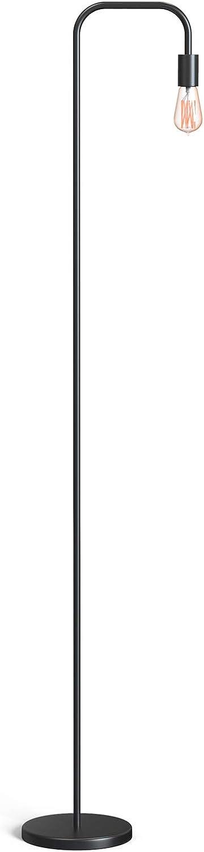 """TECKIN Industrial Floor Lamp for Living Room, Metal Minimalist Boho Decor Lamp, LED Floor Lamps for Bedroom Reading Office, ETL Listed, E26/E27 Socket, 70"""" Standing Lamp"""
