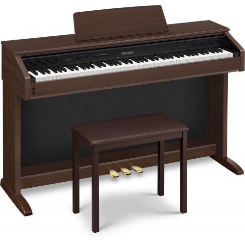casio ap250 celviano 88 key digital piano with bench oak brown buy online in uae. Black Bedroom Furniture Sets. Home Design Ideas