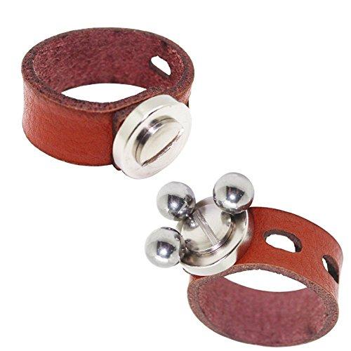Toparchery 2 pcs スリングショット鋼球 け パチンコ玉 鋼球 本革 収納 磁石付きの商品画像