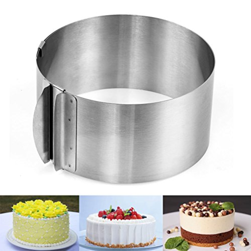 Yoofor Adjustable Stainless Steel Cake Ring 6-12 inch