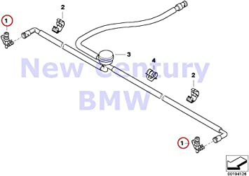 For BMW Genuine Headlight Washer Nozzle Front 61677059223