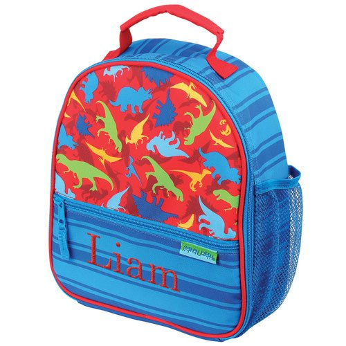 Personalized Dinosaur Lunch Bag, Insulated, 9 x 10.5 x 4, Multiple Pockets