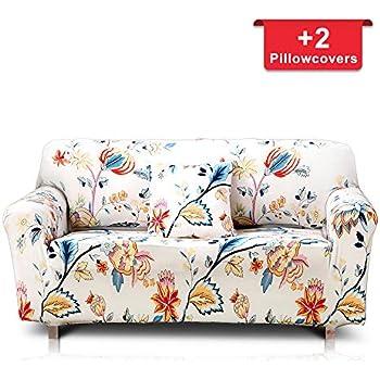 Amazon Com Enzer Stretch Sofa Slipcover Flower Bird