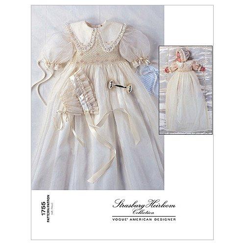 Vogue Bonnet - Vogue Patterns V1755 Infants' Dress and Bonnet, Size (NB-S-M)