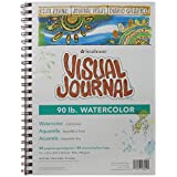 Pro-Art Strathmore Visual Journal Spiral Bound Art Pad, 9 by 12-Inch, Watercolor