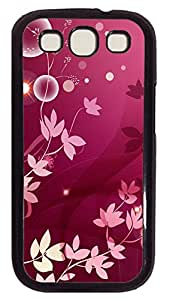 Samsung Galaxy S3 I9300 Cases & Covers - Purple Flowers Plant Custom PC Soft Case Cover Protector for Samsung Galaxy S3 I9300 - Black
