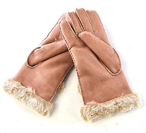 Pia Rossini Women's Suzette Faux Shearling Fur Sheepskin Gloves Small / Medium ()