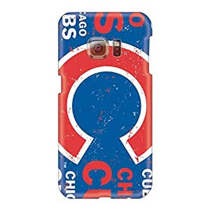 Samsung Galaxy S6 JQy28018CGgF Custom Beautiful Chicago Cubs Series Shockproof Hard Phone Cover -LeoSwiech