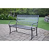 Oakland Living Corporation Aluminum/ Wrought Iron Imperial Bench