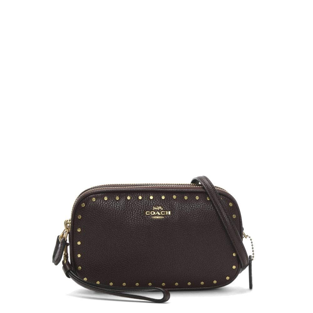 COACH Womens Crossbody Clutch With Rivets