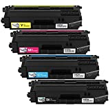 Brother HL-8250, 8350, MFC-8600, 8850 Tn336 Toner Cartridge, Black/Cyan/Magenta/Yellow, 4 Pack from Reseller