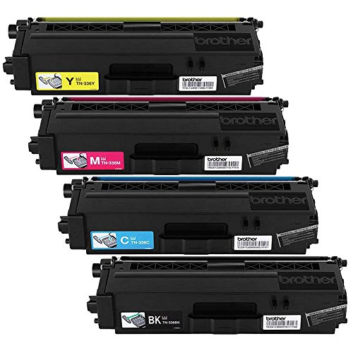 Brother HL-8250, 8350, MFC-8600, 8850 Tn336 Toner Cartridge, Black/Cyan/Magenta/Yellow, 4 Pack from Reseller by Brother