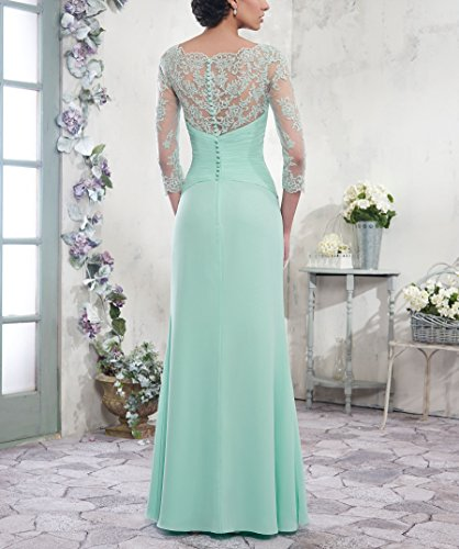 6cb9fddfd8d LoveMyth Women s Mother Of The Bride Dress Floor Length Chiffon Lace 3 4  Sleeve Bodice Formal Evening Dress at Amazon Women s Clothing store