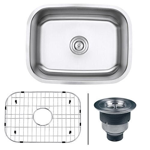 Ruvati 24-inch Undermount 16 Gauge Stainless Steel Kitchen Sink Single Bowl - RVM4132 ()