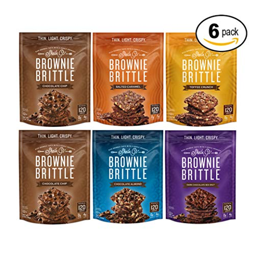 Brownie Brittle, Variety Pack, 5 Oz Bag (Pack of 6), The Unbelievably Rich and Delicious Chocolate Brownie Snack with A Cookie Crunch(Packaging May Vary) ()