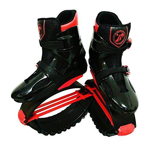 Miao Sprongen Rebound Schoenen - Outdoor Sporten Volwassen Gymschoenen Elastische Kinderen Hüpfschuhe Zwart Rood