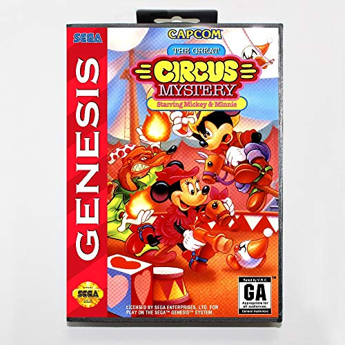 The Crowd Tradensen Great Circus Mystery Starring Mickey & Minnie Game Cartridge 16 Bit Md Game Card with Retail Box for Sega Mega Drive for Genesis (Sega Ebay Genesis)