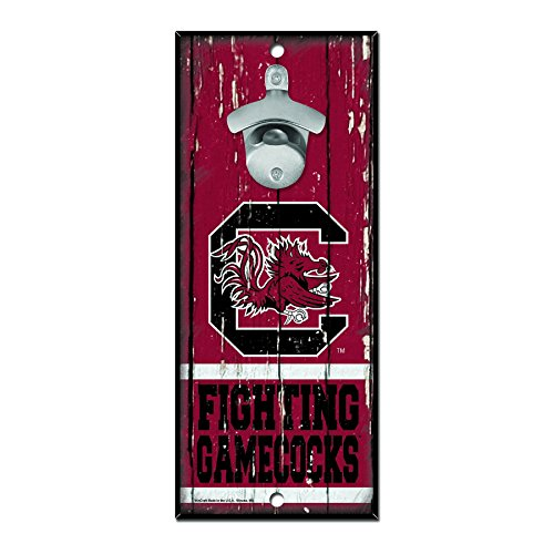 WinCraft NCAA South Carolina Fighting Gamecocks Wood Bottle Opener Sign, 5