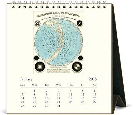 Cavallini Papers & Co. 2018Celestial Schreibtisch Kalender