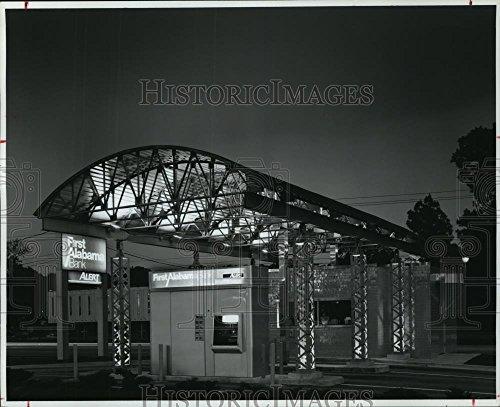 Vintage Photos 1993 Press Photo First Alabama Bank Drive-Thru Window & ATM, Birmingham, Alabama