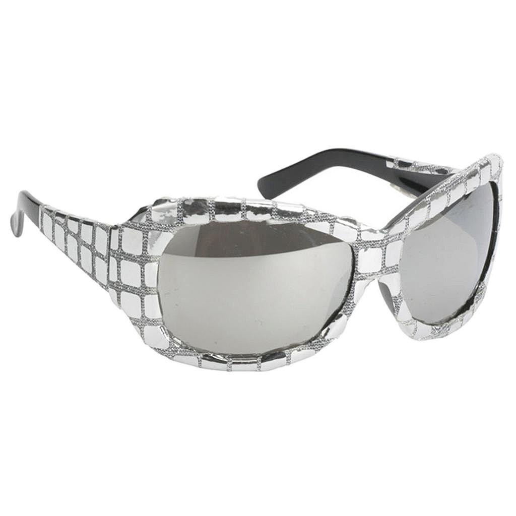 803c948d143 Amazon.com  Homyl Funny Shiny Metallic Silver Sequins Glasses Costume Night  Party Birthday Carnivals Men Women Sunglasses Photo Booth Eyewear Gift   Toys   ...