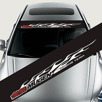 125 x 20 cm ETIE reflectante Mugen delanteras y traseras parabrisas pancarta de vinilo pegatinas de vinilo para coches Auto Exterior modifield accesorios ...