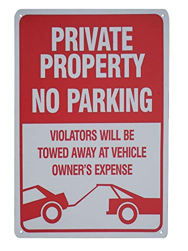 (Monifith Tin Signs Private Property No Parking Sign Violators Will Be Towed Warning Signs 8x12 Inch)