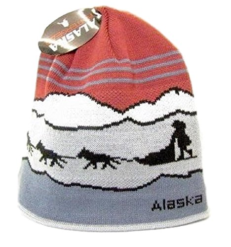 Alaska Beanie Hat Skull Sled Dog Team Knit Stocking Hat